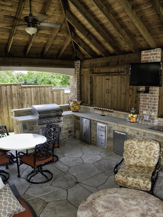 Dallas landscape architects outdoor kitchens fireplaces for Dallas outdoor kitchens